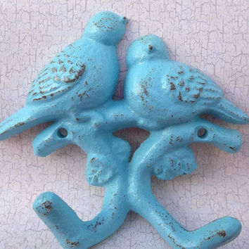 Double Bird Wall Hook - Country Cottage - Home Decor  - Childs Room - House Wares - Shabby Chic Hook