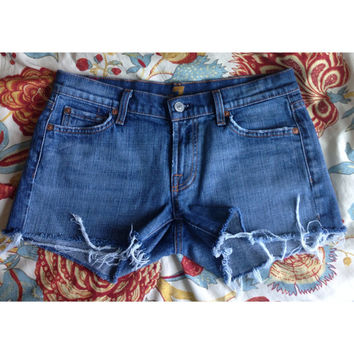 7 jeans transformed into shorts!!