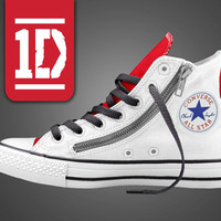 One Direction Converse, 1D Converse, 1 Direction Converse, One Direction Shoes, Zayn, Harry Styles, Concert Gear
