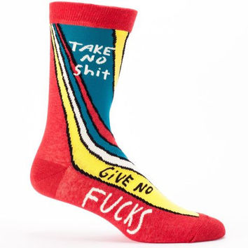 Take No Shit, Give No Fucks Men's Socks