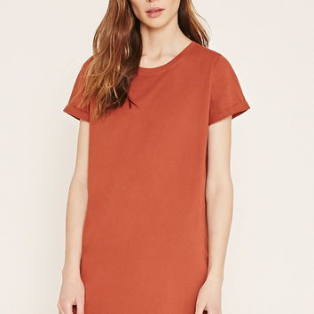 Contemporary T-Shirt Dress | LOVE21 - 2000185118
