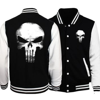 Hot Sale Plus Size Men Jackets 2018 Spring Baseball Uniform Batman 2/ The Flash/ Deadpool/ The Punisher Hip Hop Men Coat S-5XL