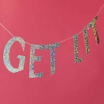 Get Lit Party Banner | Urban Outfitters
