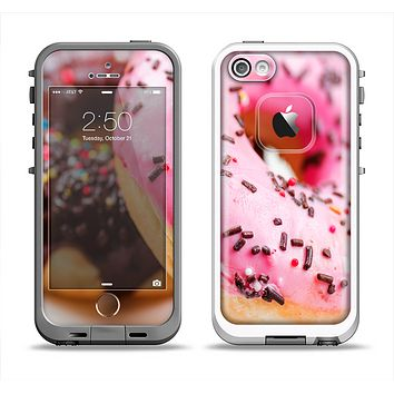The Sprinkled Donuts Apple iPhone 5-5s LifeProof Fre Case Skin Set