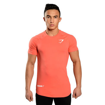 GymShark Element T-Shirt - Coral T-shirts | GymShark International | Innovation In Fitness Wear