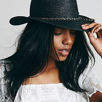 Free People Womens Twisted Rope Straw Hat