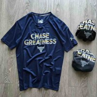 Under Armour New style short sleeve blouse top t-shirt Navy blue