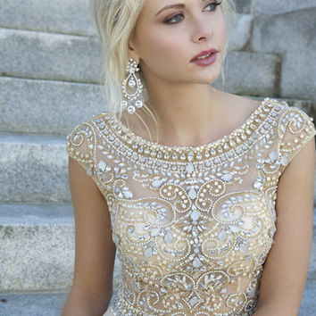 Inexpensive Crystal Long Prom Dresses Long Prom Dresses Us Size 8 In Stock Evening Dresses GX453