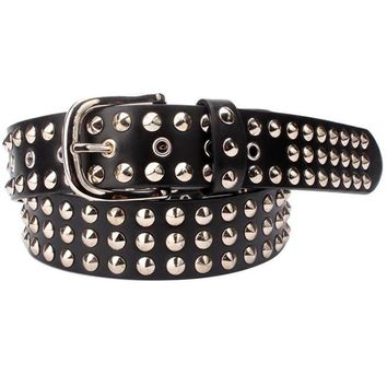 BELT Unisex punk metal round rivet's belt women's or men's belt