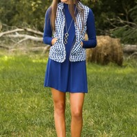 FOR SIENNA: Nights In Nantucket Vest-Blue Check