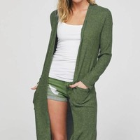 Thermal Knit Cardigan - Olive