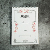 Le cahier feminine A5 size spiral lined notebook