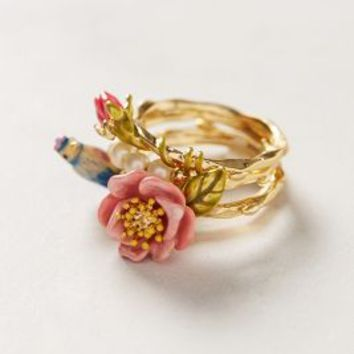 Birdsong Ring Set by Les Nereides Multi 6 Jewelry