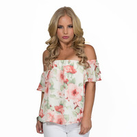 Rose Garden Off Shoulder Blouse