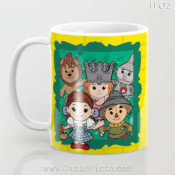 Kawaii Wizard of Oz 11/12/15 oz Mug Dishwasher Microwave Safe Cup Tea Coffee Drink Cute Dorothy Toto Tin Man Scarecrow Glinda Ruby Slippers