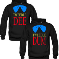 Tweedle Dee Tweedle Dum Love Couple Hoodies