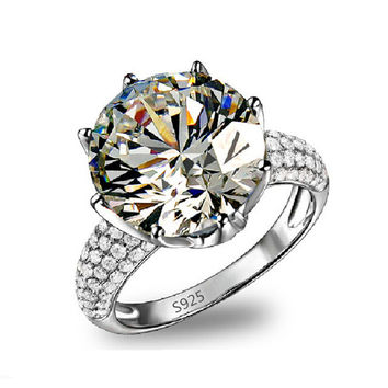 Big CZ Diamond Luxury Ring