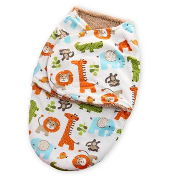 Just to you wrap soft flannel parisarc newborn swaddle baby Blanket & Swaddling Warm Winter Autumn Polar sleeping bag velvet
