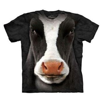 New Big FACE MOO MOO COW BLACK YOUTH CHILD  T SHIRT FARM ANIMAL-