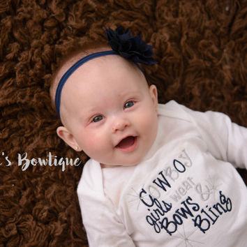 Cowboy girls like bling bodysuit or shirt set--Girls Football outfit-- Cowboys outfit --