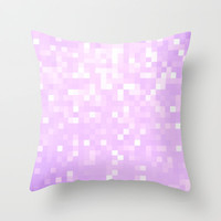 Lavender Pixel Sparkle Throw Pillow by 2sweet4words Designs