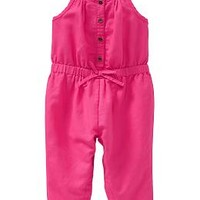 Linen-Blend Rompers for Baby