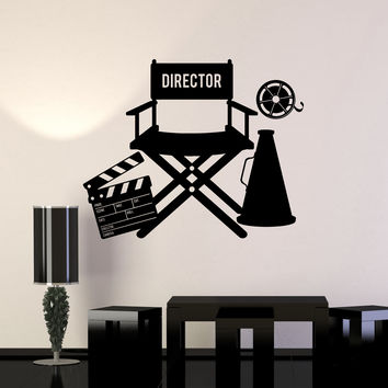 Vinyl Wall Decal Film Director Filming Cinema Room Movie Stickers Mural Unique Gift (ig5007)