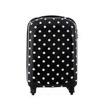 "EDDAS Black EP303 20"" Carry-On Wheeled Hard Shell Case Luggage"