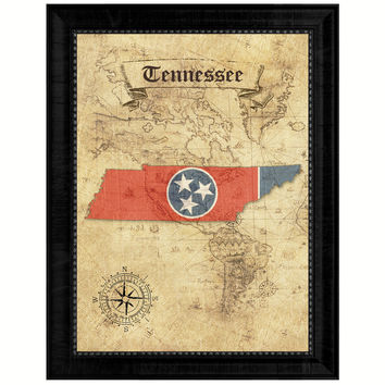 Tennessee State Vintage Map Gifts Home Decor Wall Art Office Decoration