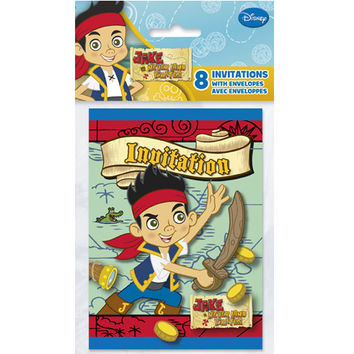 Jake and the Never Land Pirates Party Invitations [8 Per Pack]