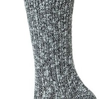 Wigwam Women's Cypress Classic Lightweight Outdoor Casual Crew Boot Sock, White/Black, Medium