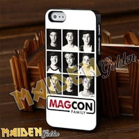 Magcon Family Collage White for iPhone 4/4s/5/5s/5c - iPod 4/5 - Samsung Galaxy s3 i9300/s4 i9500 Case
