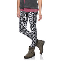 Empyre Girls Black & White Native Print Leggings at Zumiez : PDP