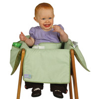 Leachco Diner Liner High Chair Seat Cover - Green Pin Dots