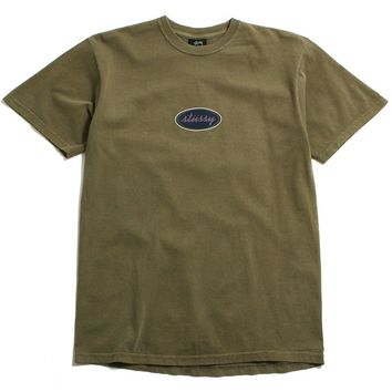 Oval Pigment Dyed T-Shirt Army