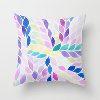 Hello Petal - Pastel Pop Throw Pillow by Rebecca Newport of London