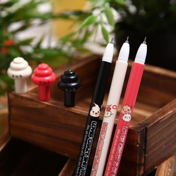48 pcs Gel Pens Cartoon Crazy poop black colored kawaii gift gel-ink pens for writing Cute stationery office school supplies
