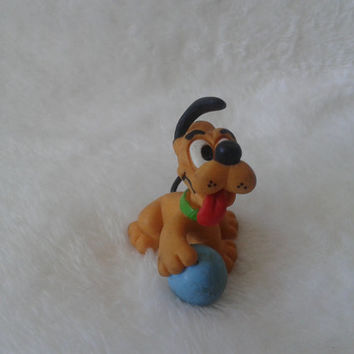 Vintage Disney babys Pluto  pvc Walt Disney pro. comic spain  miniature figure