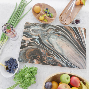 Copper and Stone Cutting Board by duckyb