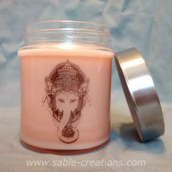 Elephant Goddess, Goddess Ganesh, Hindu Goddess, Wiccan Candle, Pagan Candle, Witchcraft, Altar Candles, Ritual Candles, Spell Candles