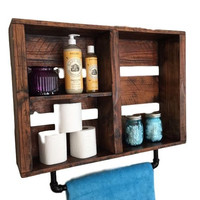 Bathroom Organizer Towel Rack Storage Shelves