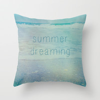 Summer Dreaming Throw Pillow by Shawn Terry King