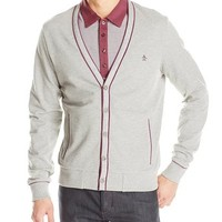 Original Penguin Men's Pique Cardigan Sweater