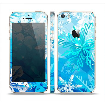 The Winter Abstract Blue Skin Set for the Apple iPhone 5s