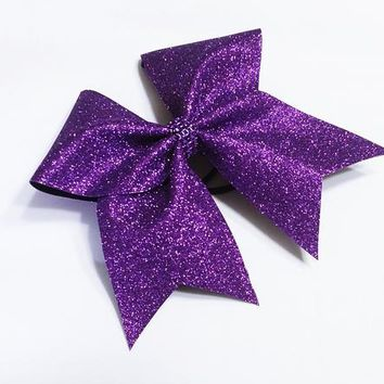 Purple glitter cheer bow, Cheer bow, glitter Cheer bow, Sparkly cheer bow, cheerleader bow, cheerleading bow, cheer bows, softball bow, bow