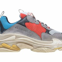 KU-YOU Balenciaga Triple S - Grey Red Blue