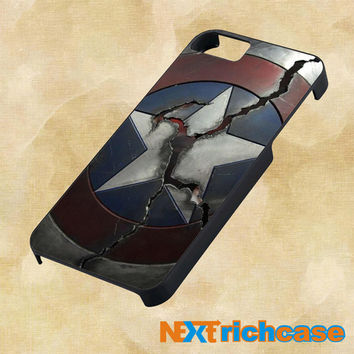 Broken Captain america shield For iPhone, iPod, iPad and Samsung Galaxy Case