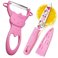 1 X Pink Hello Kitty Fruit Parer Slicer and De-corer Cartoon Fruit Knife