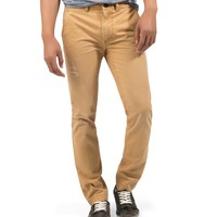 Aeropostale  Mens Skinny Fit Destroyed Chinos - Yellow