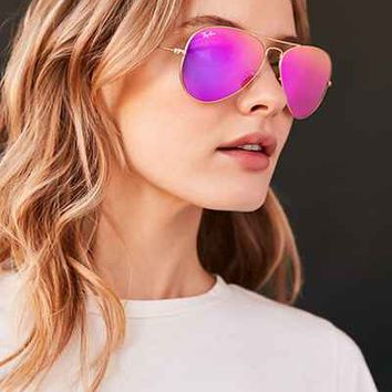 Ray-Ban Flash Aviator Sunglasses - Urban Outfitters